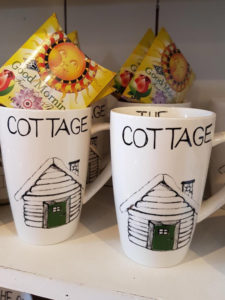 cottage mugs and specialty teas